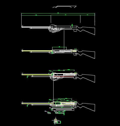 CAD模具图纸之自制气枪图