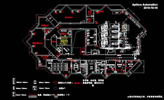 某办公用途CAD电气工程制图平面图
