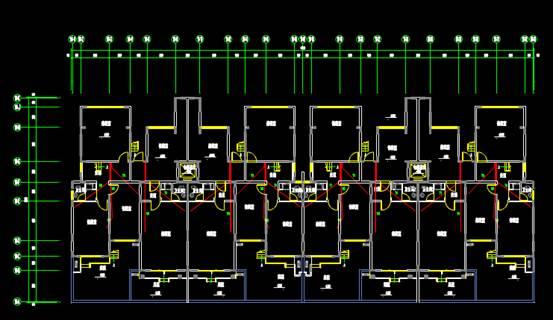 有地下室和跃层建筑CAD电气工程制图