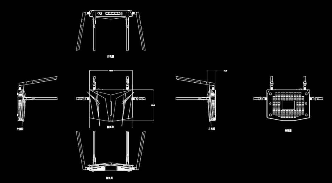 CAD建筑设计中古古建结构CAD图纸