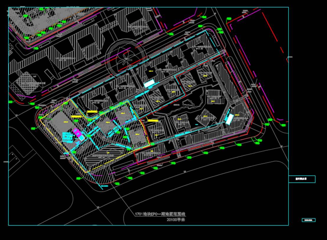 地铁室外管图装饰设计CAD图纸