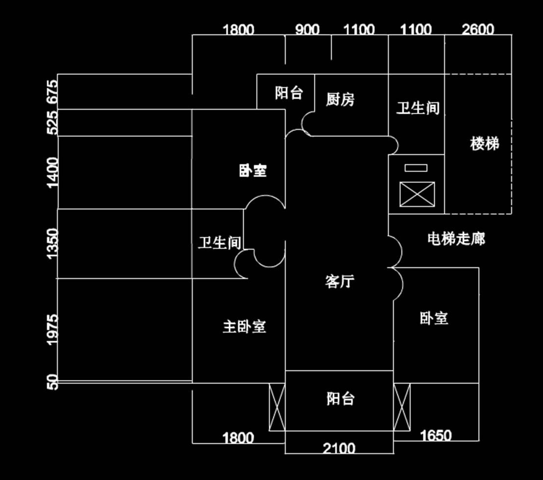 室内设计室内装修户型图CAD室内平面图设计