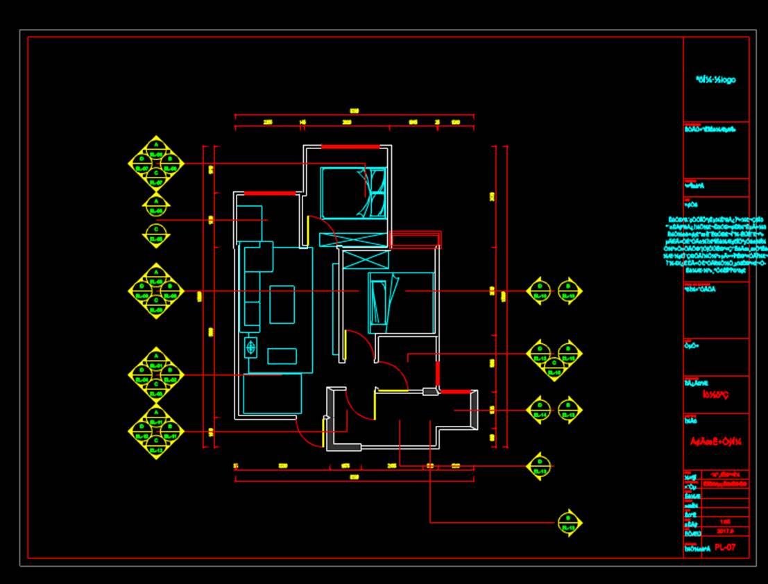 平面系统图CAD室内设计图纸