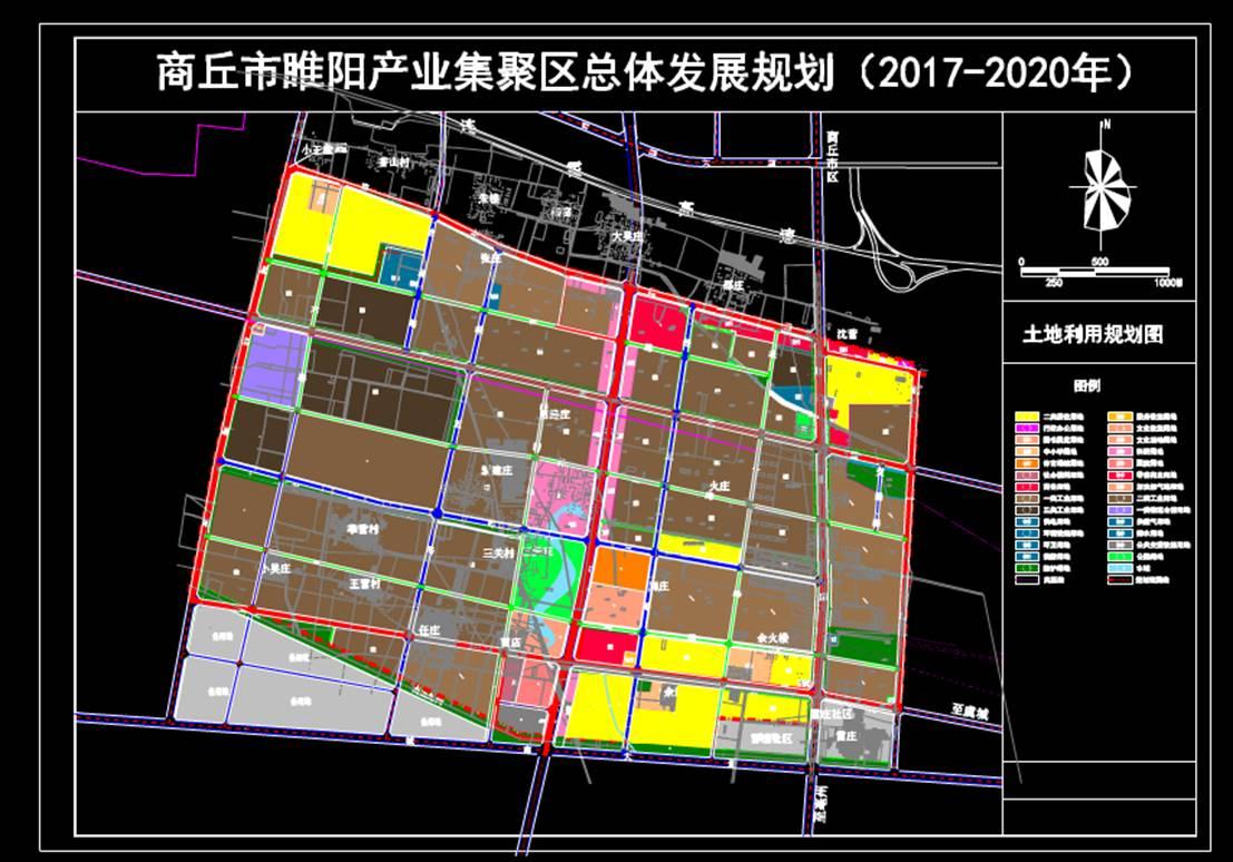 城市规划设计图CAD-用地发展规划路面
