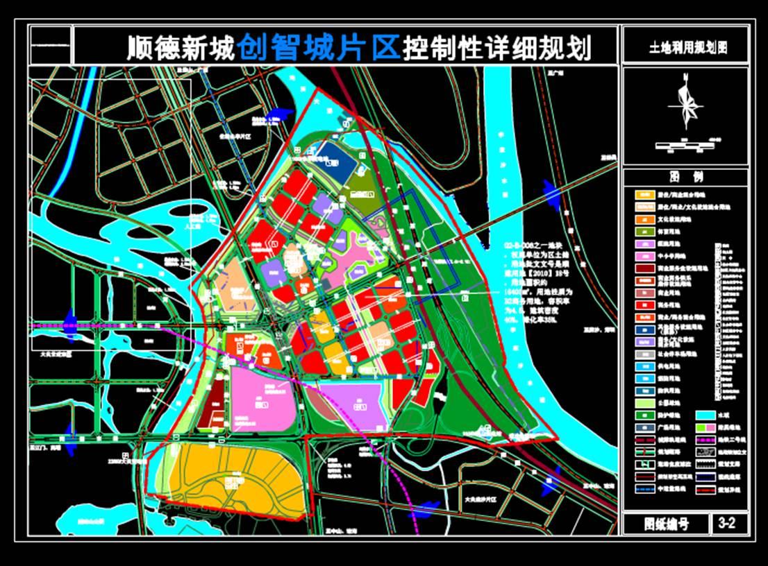 城市规划设计图CAD-片区控规
