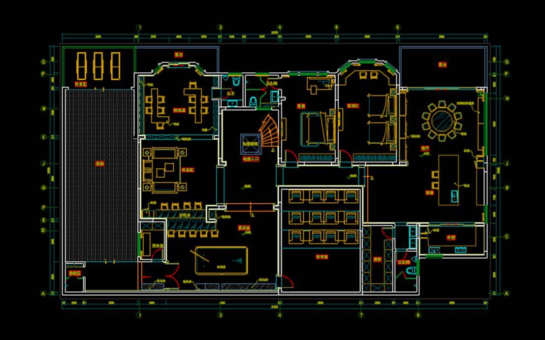 别墅平面图CAD制图室内设计