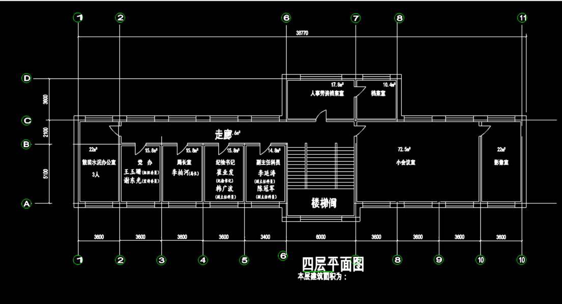 建筑设计建设局办公建筑办公底层平面CAD图