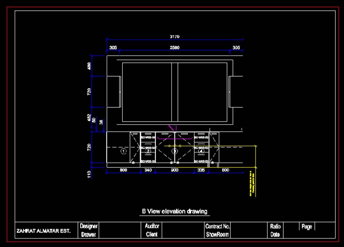 室内设计CAD平面室内图