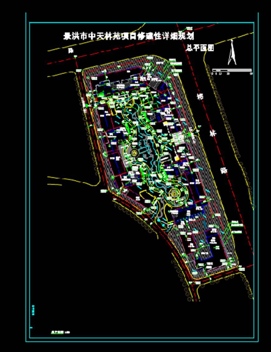 总平面图城市规划CAD平面图