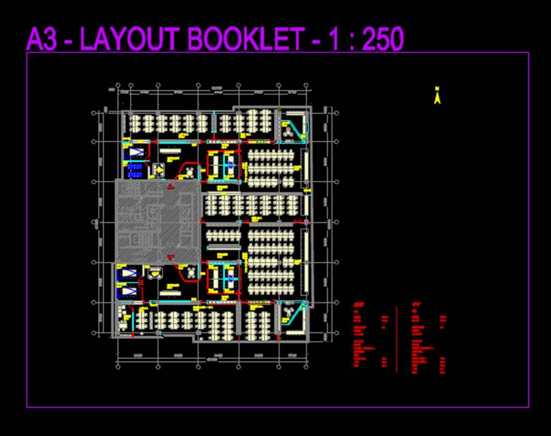 建筑设计办公建筑平面图办公底层平面CAD图