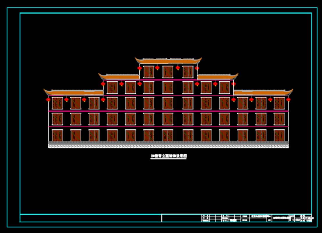 装饰设计CAD室内装修平面图——外墙装饰