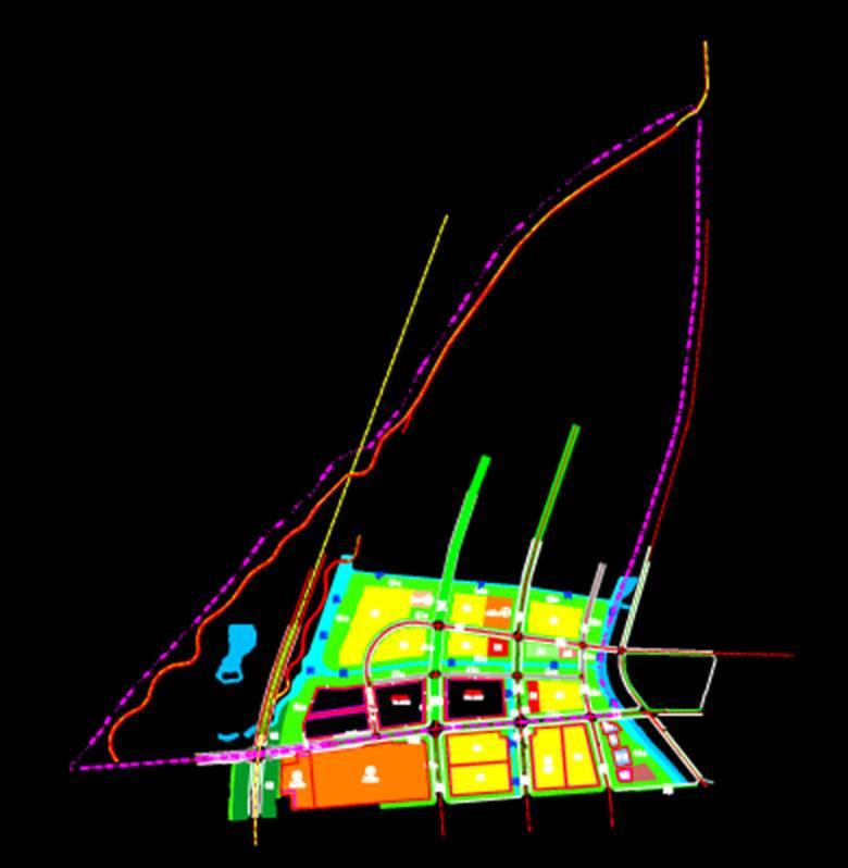 城市规划CAD平面图——地块