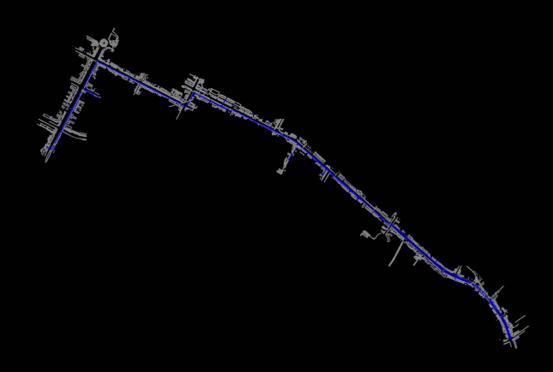 路桥市政市政CAD图纸——洗管
