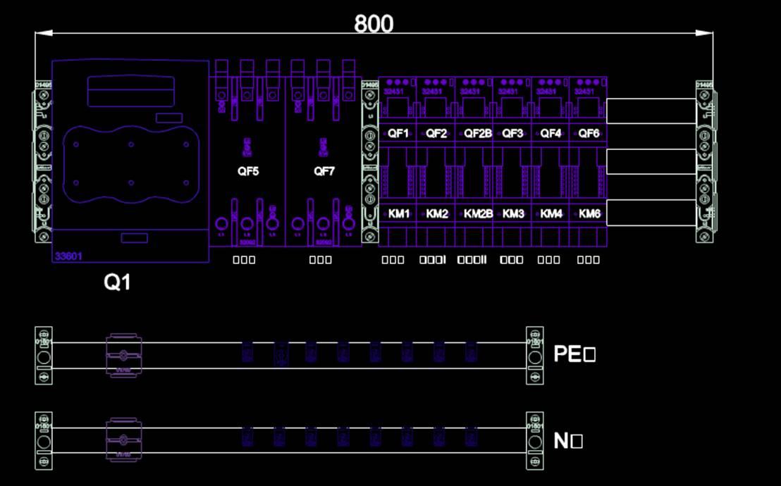 某机械电路方案图机械设计方案CAD图