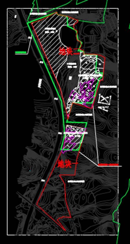 土地使用情况示意图城市规划CAD平面图