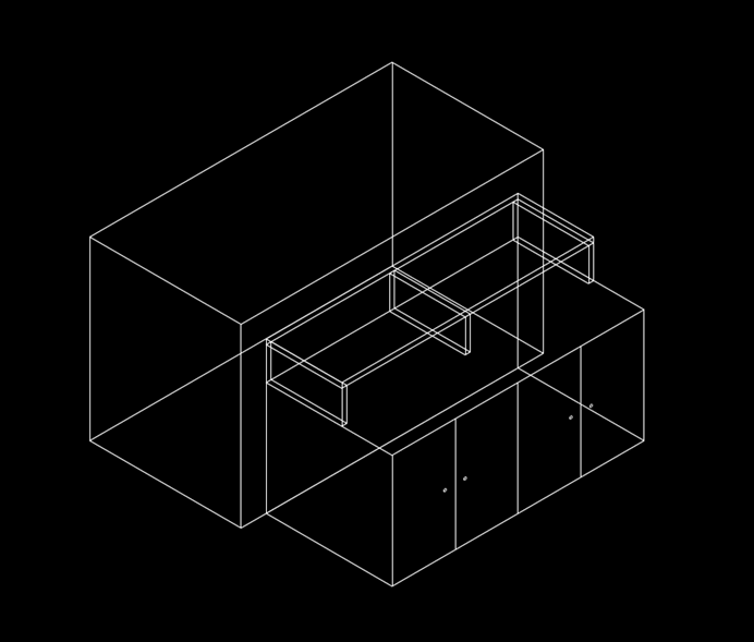 机械制图CAD入门流水台尺寸图
