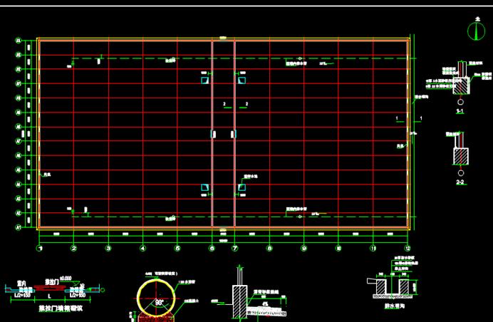 CAD建筑电气图-温室大棚图纸