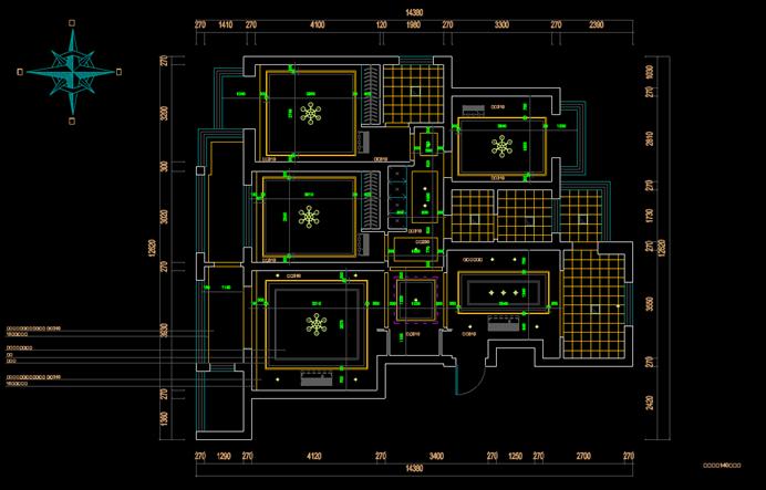 CAD室内建筑图-室内装修户型图