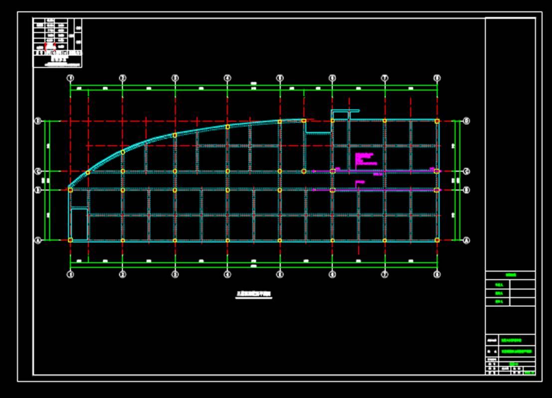 钢砼框架建筑结构设计CAD图之预应力设计图