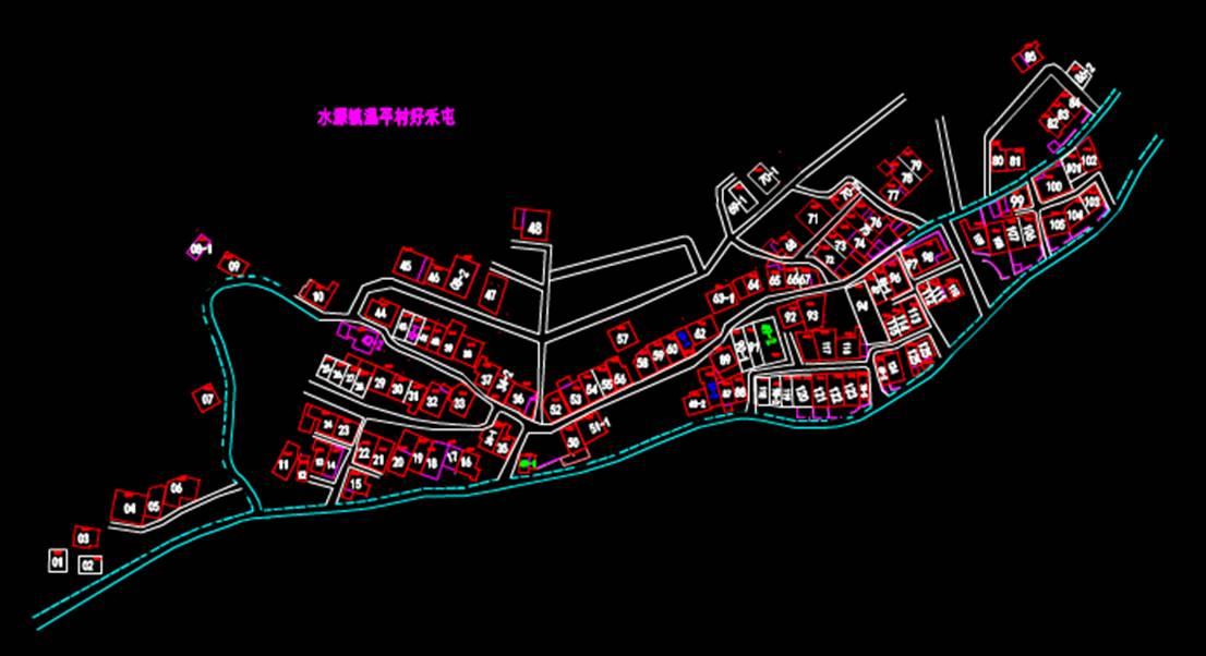 城市规划CAD平面图之温平村好禾屯