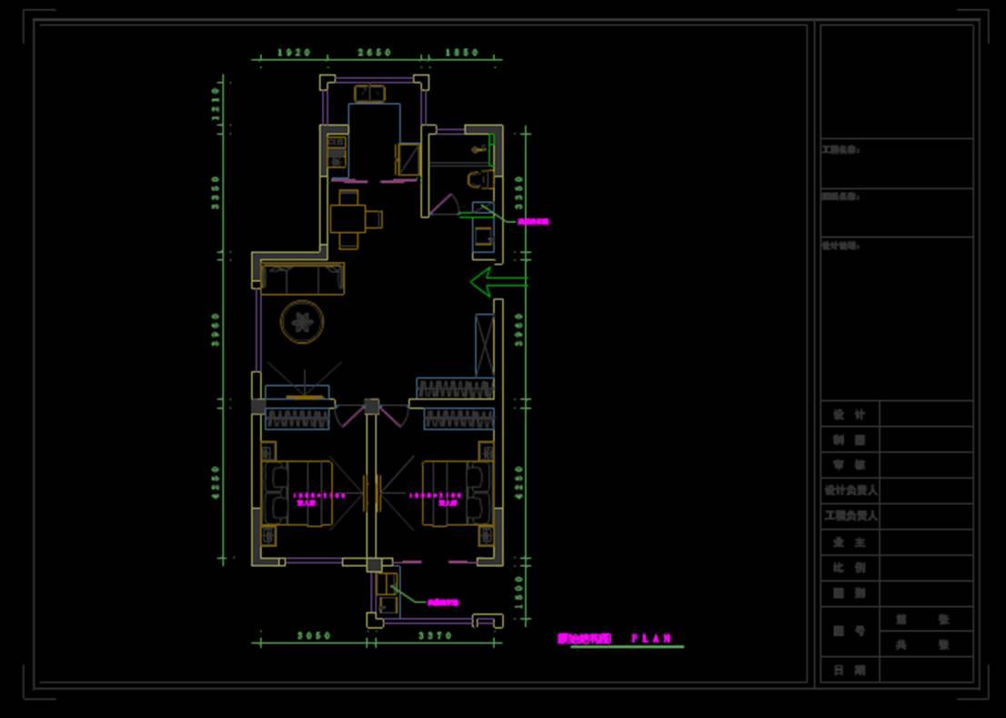 原始结构图室内设计CAD网站