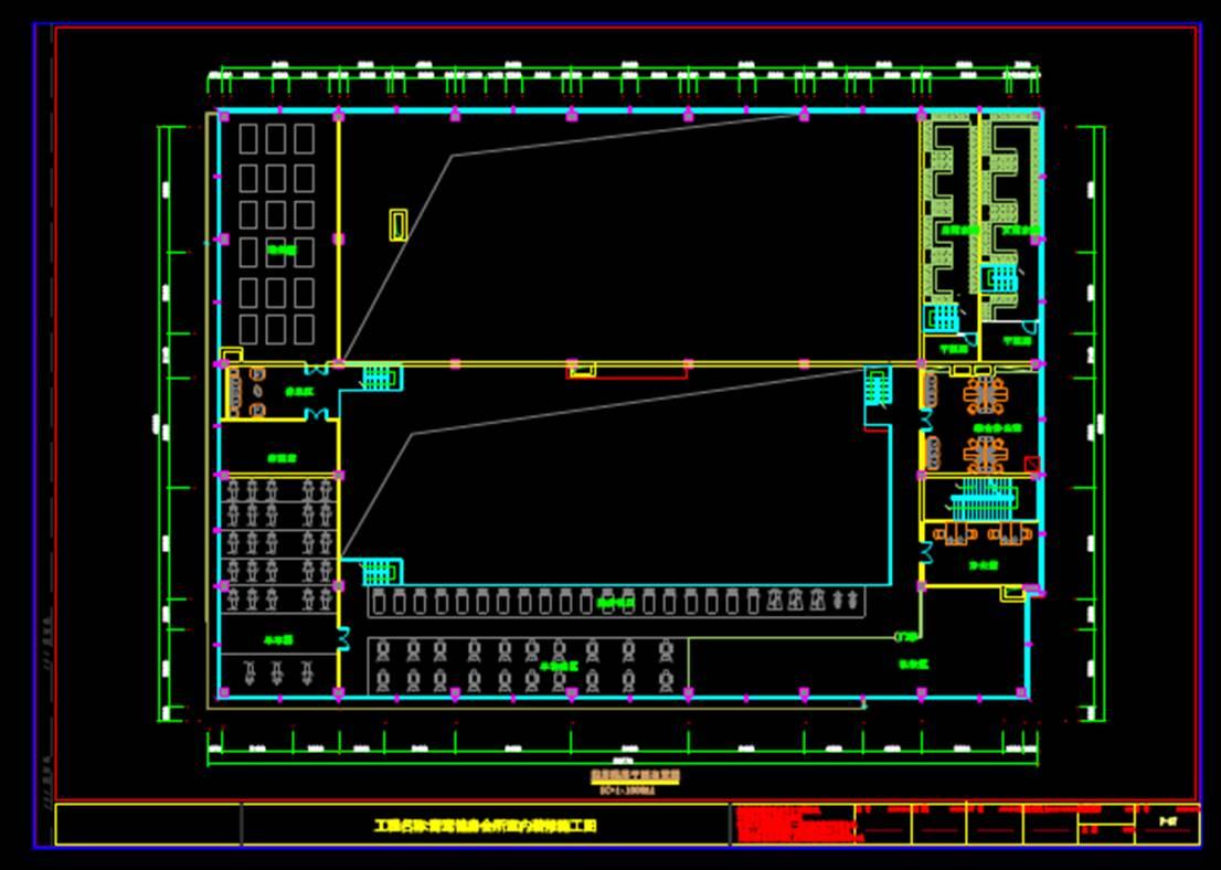 健身会所室内装修施工图CAD室内设计图库下载