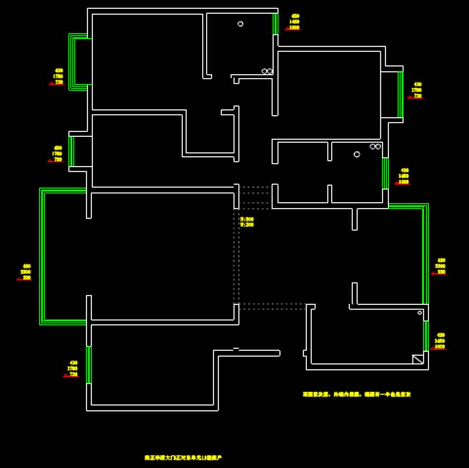 室内装修户型图室内设计CAD户型图原图