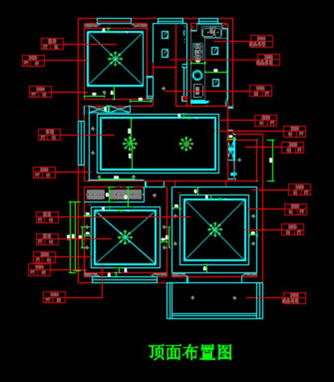 室内装修户型图小区室内设计CAD户型图