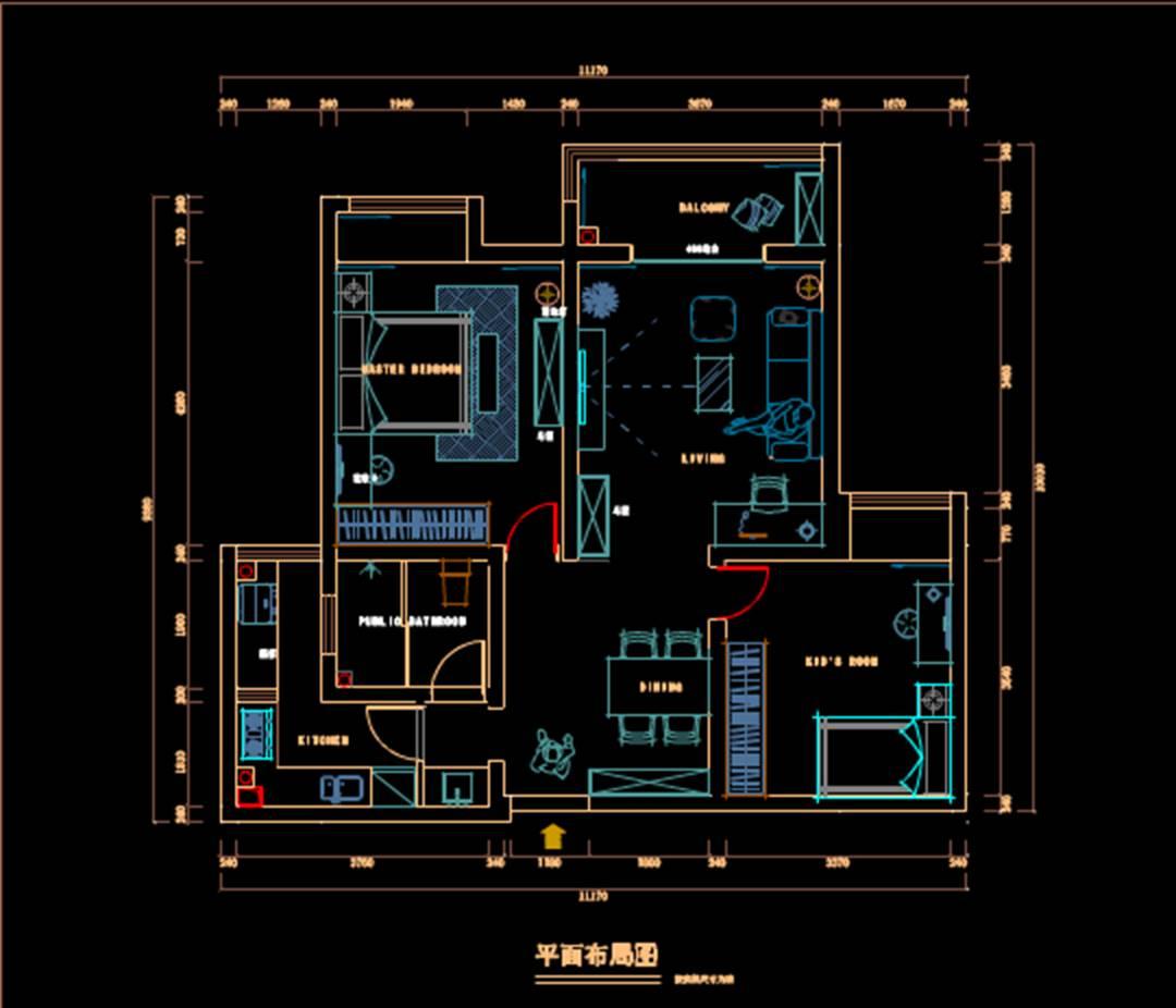 房屋改造的CAD室内设计图纸