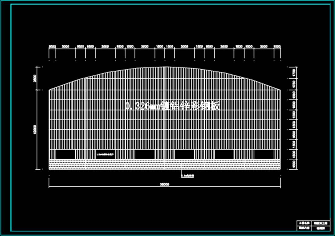 钢筋加固棚建筑结构CAD图纸