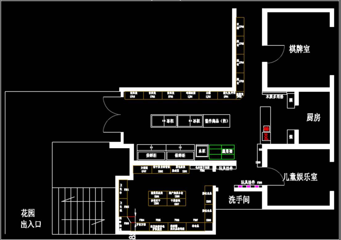 某商场CAD室内设计图纸