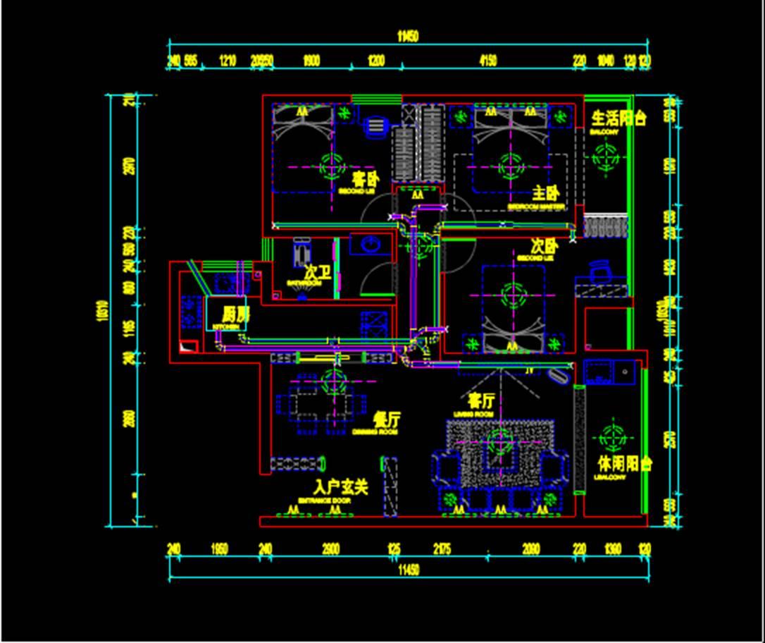 房屋CAD室内设计图纸