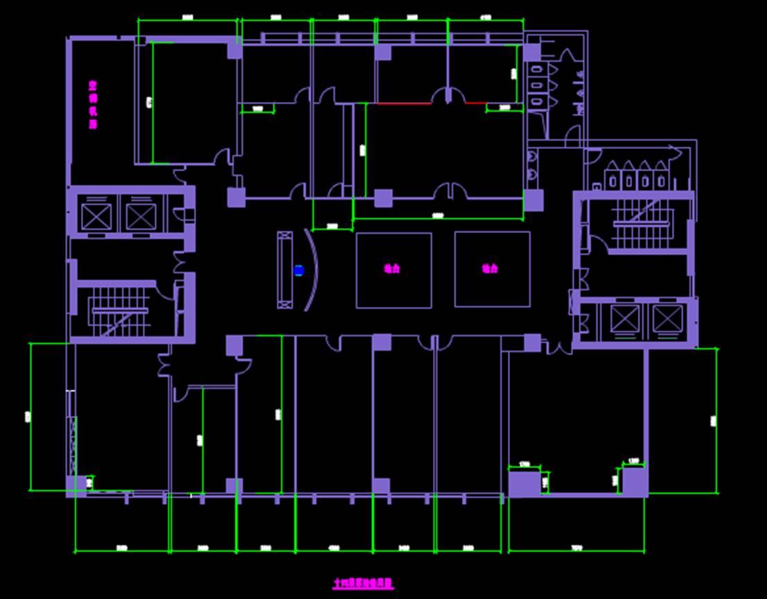 某大厦的CAD标准电气图纸