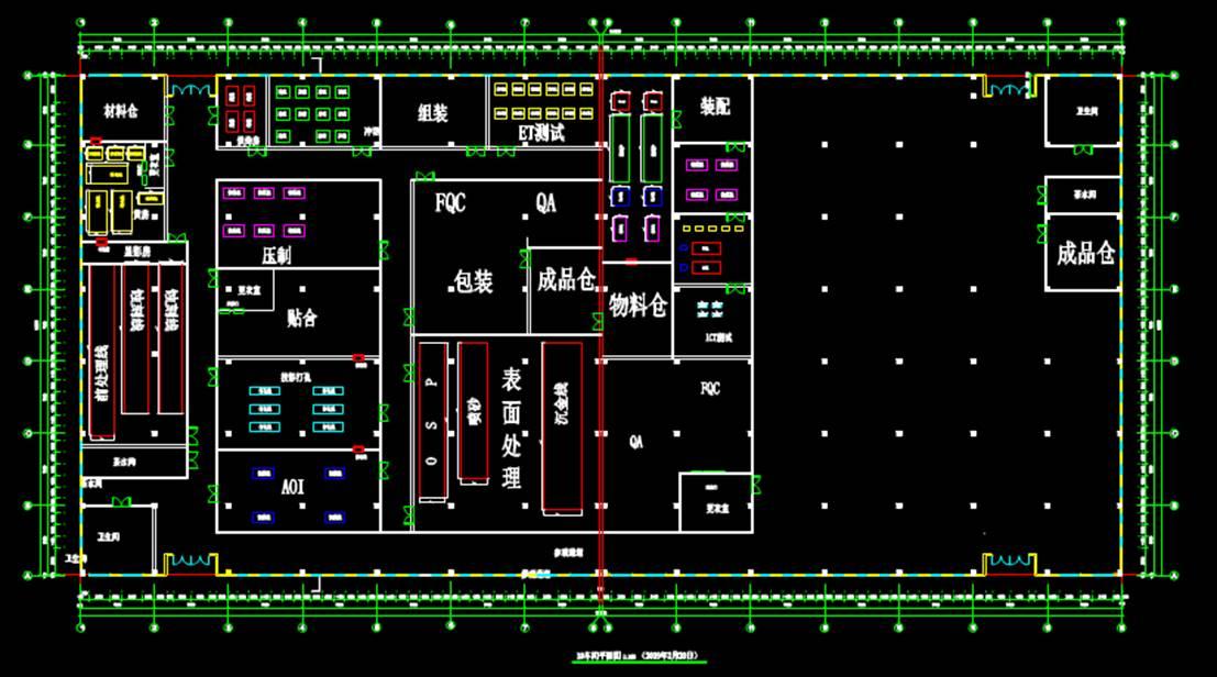 厂房的平面建筑CAD图纸