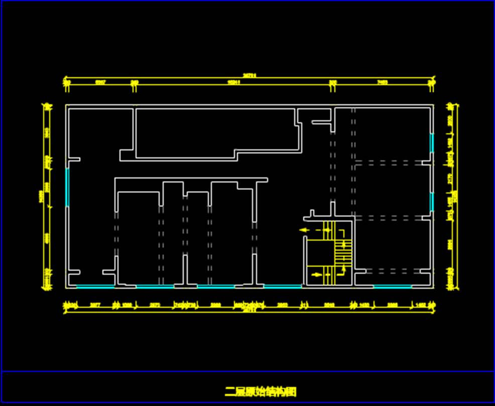 某店面的平面建筑CAD图纸