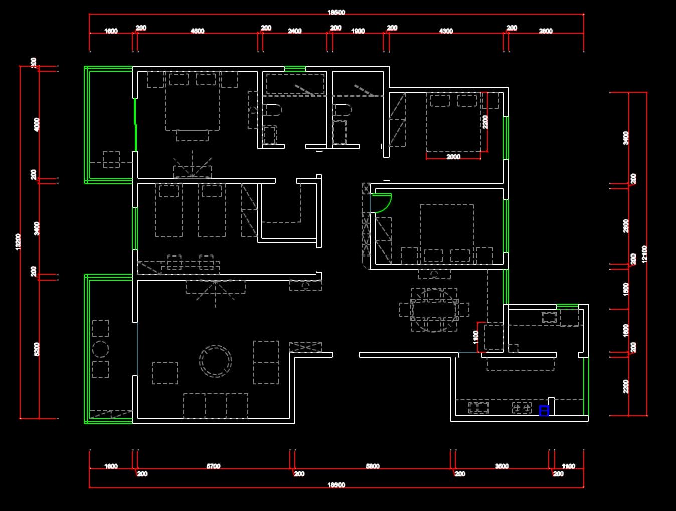 小户型房间CAD室内设计图纸