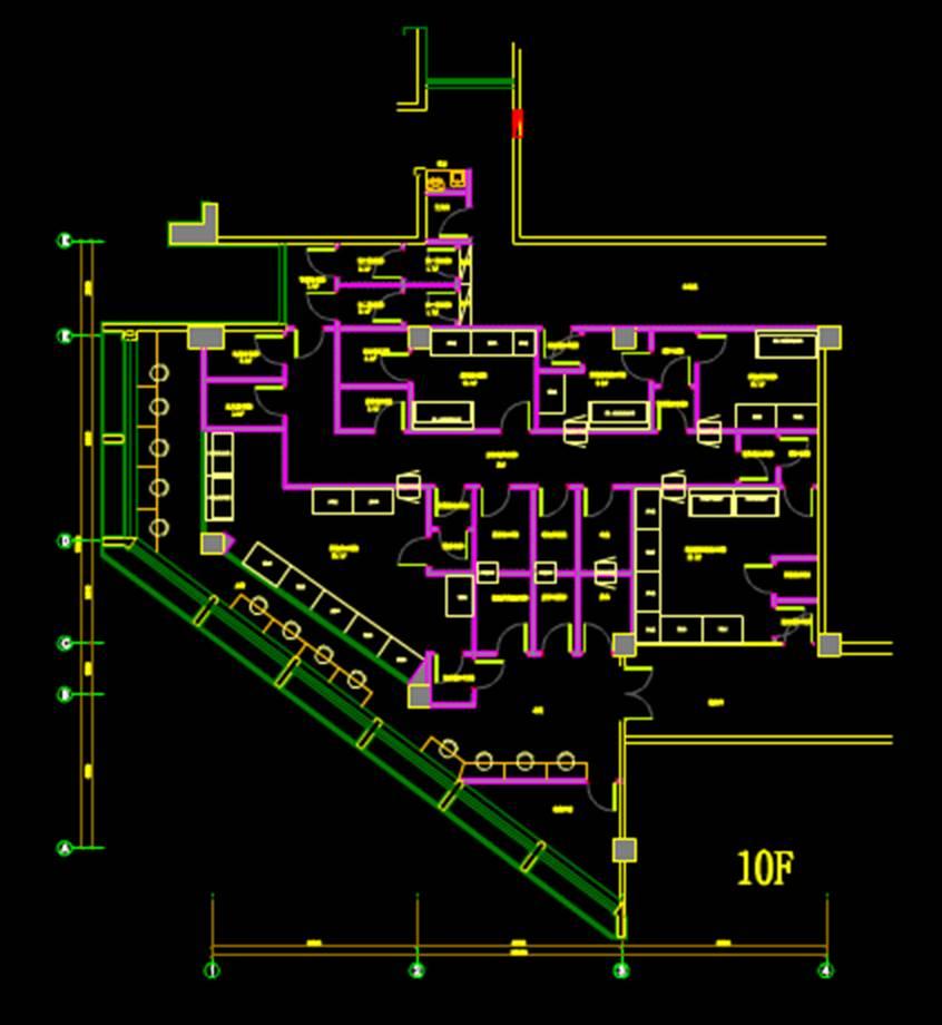 生命学院平面建筑CAD图纸