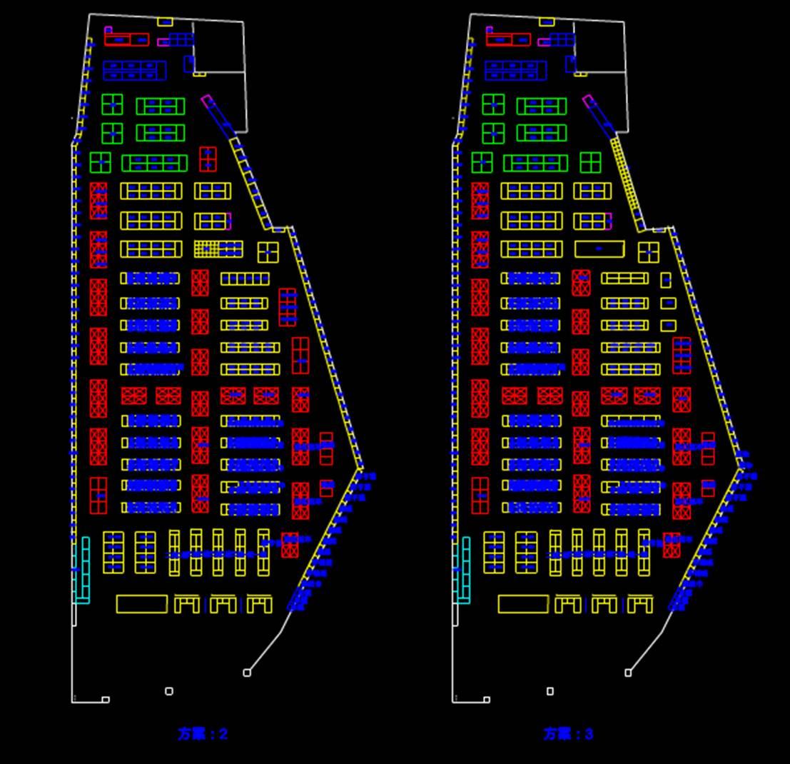 某超市扩建方案CAD制图室内设计图