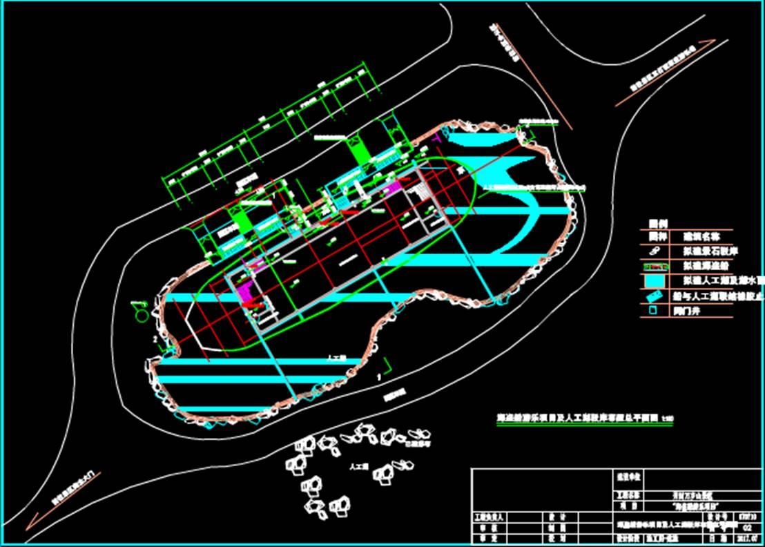 海盗船游乐项目建筑设计CAD图纸