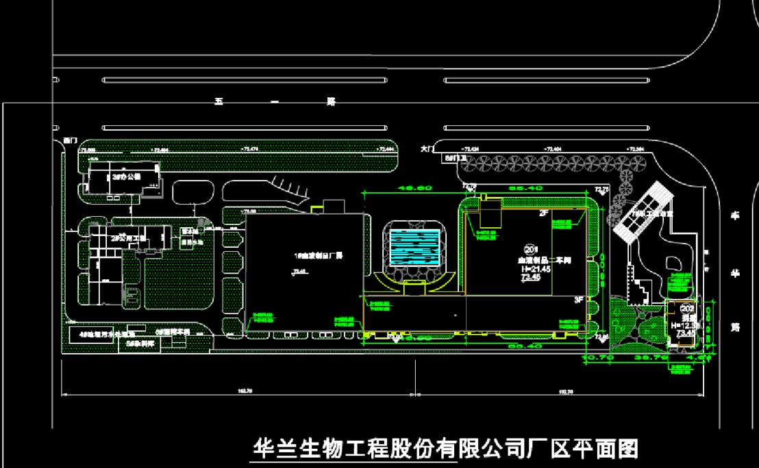 某公司厂区平面图城市规划设计图CAD