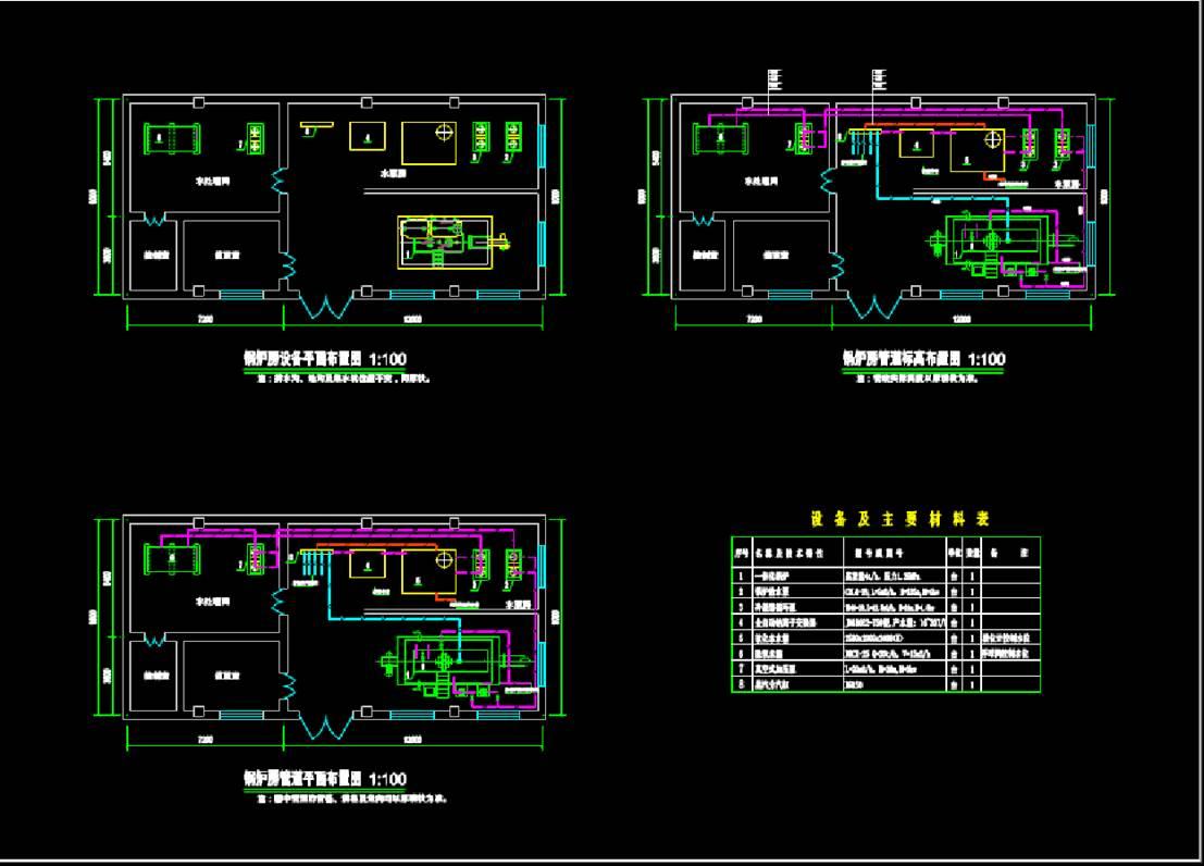 临潼锅炉房建筑设计CAD图