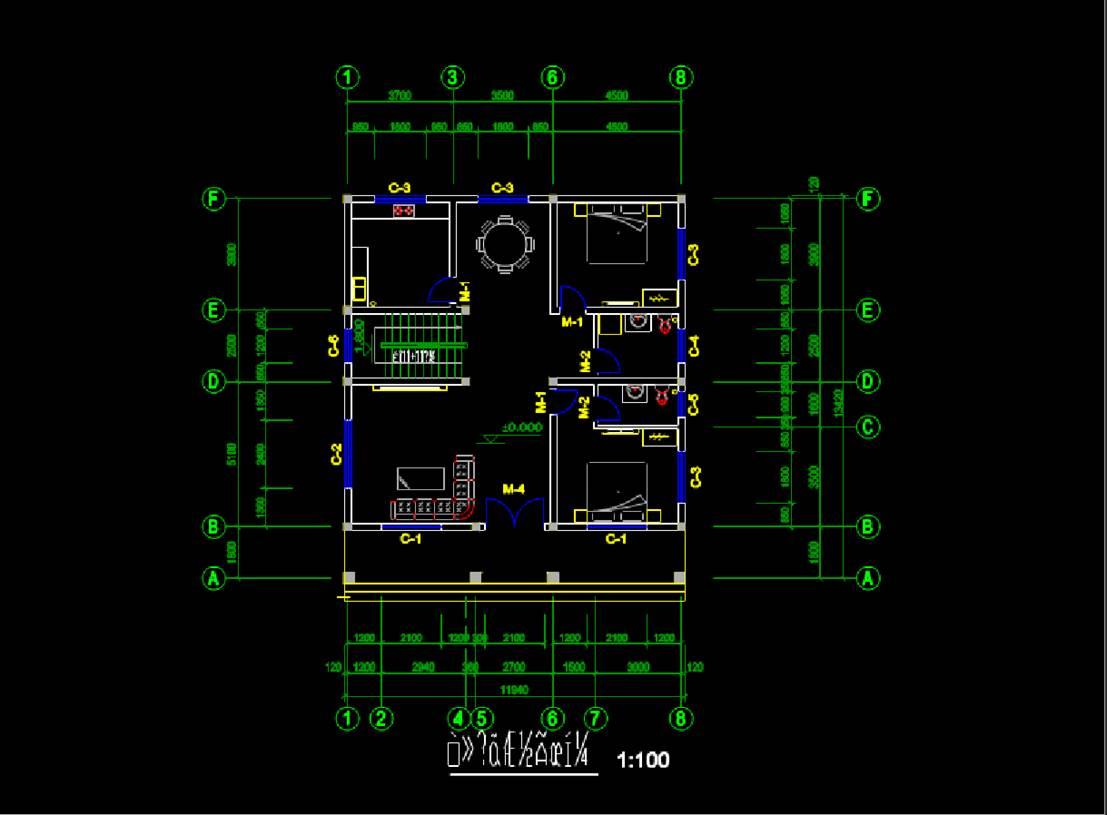 某别墅建筑基础图