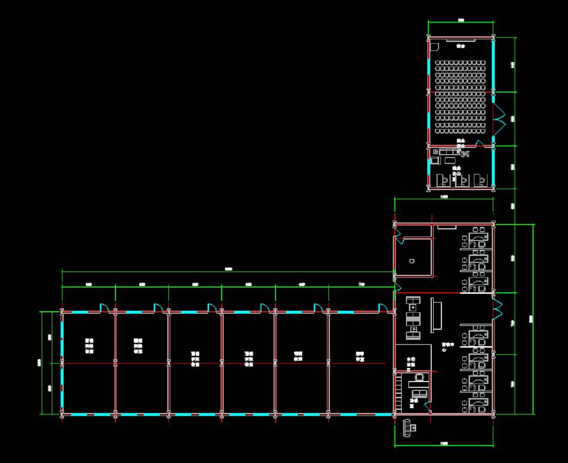 某教学楼和报告厅建筑平面图