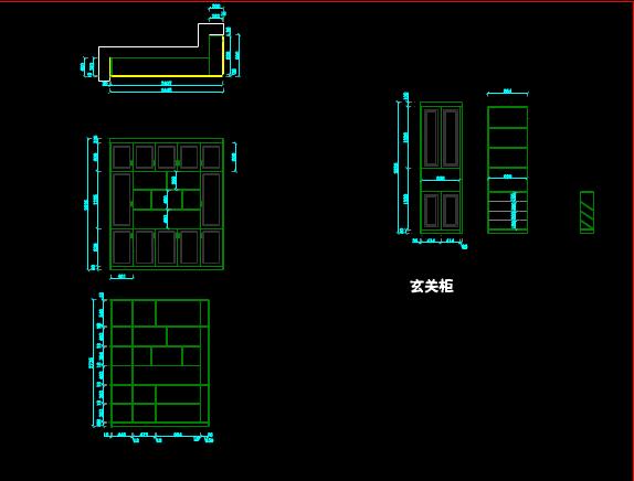 家具柜子CAD制图室内设计