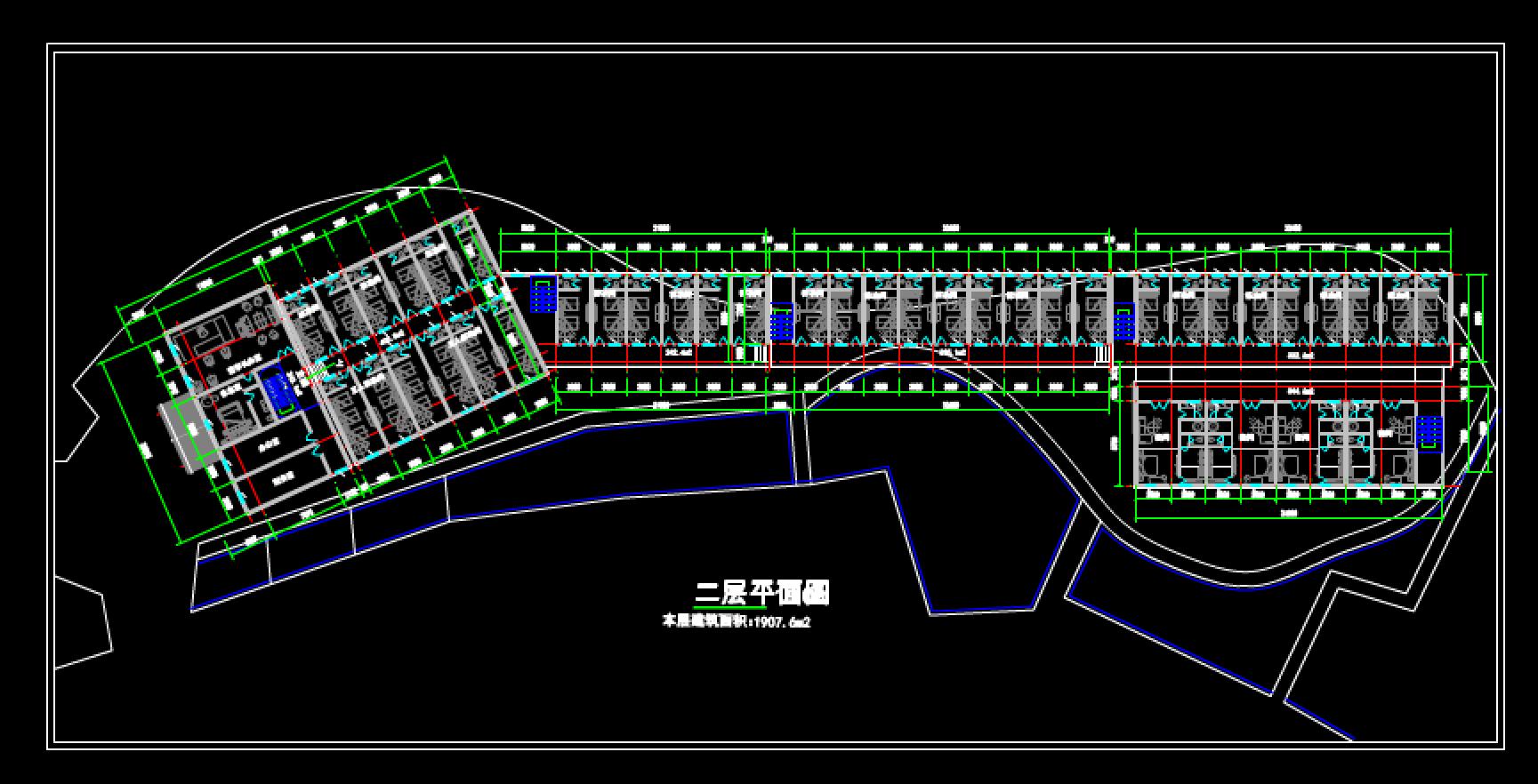 紫金山宾馆三层平面图