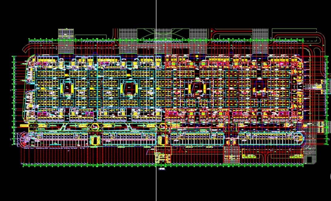地上平面设计商业楼CAD图纸