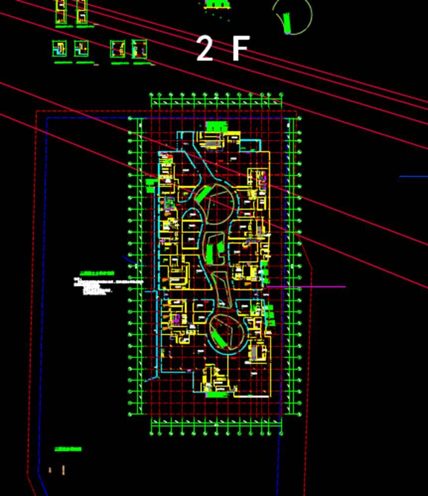 大型购物中心防火分区商业楼CAD图纸