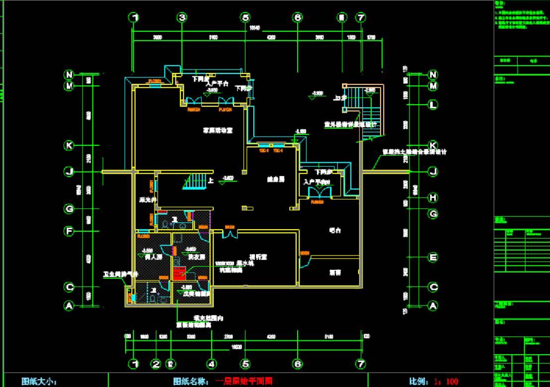 池总别墅CAD制图室内设计