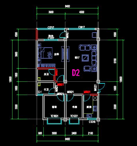 CAD室内设计图库大全之CAD平面布置