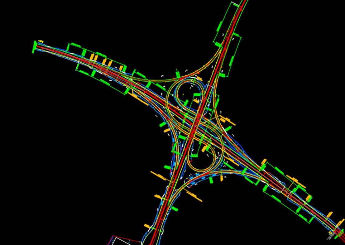 交通标志线CAD道路交通图